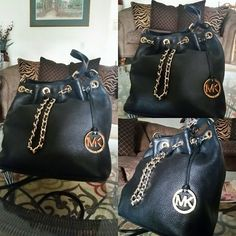 Michael Kors Bag super fashionable Mkri 4less Medium size Black leather, beautiful and super comfortable bag. Gold accents and in super great shape. This bag can be crossbody or shoulder, it can be adjusted as well. Michael Kors Bags Shoulder Bags