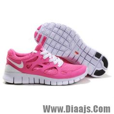Womens Nike Free Run + 2 in Hot Pink/Magenta/White