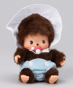 omg... this is so for my nephews baby.... he was a total Manchichi baby.... lol Take a look at this Blue Sitting Bebechhichi by Monchhichi on #zulily today!