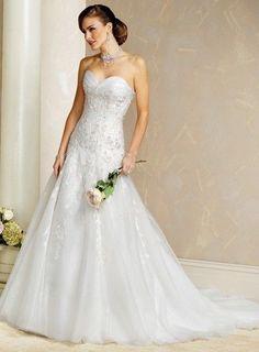 Sexy Sweatheart A-Line Wedding Dress Bridal Gown Custom Size 4 6 8 10 12 14 16+