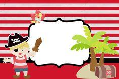 Pirata Menino – Kit Completo com molduras para convites, rótulos para guloseimas, lembrancinhas e imagens! | Fazendo a Nossa Festa