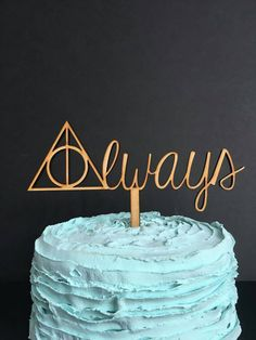 Time to make the unbreakable vow! Commemorate your day with this Always Harry Potter Wedding Cake Topper. Inspired by the deathly hallows and our favorite potions professor, this topper is perfect for the nerdy couple or geeky wedding. ♥ Measures approximately 7.5 wide x 3 tall ♥ Pick measures 4 ♥ Available in bare MDF wood, painted MDF wood, or acrylic plastic.  CURRENT PROCESSING TIMES: Bare Wood - 1-2 Weeks Painted Wood - 2-3 Weeks Acrylic - 3-4 business days  Optional gift packaging…