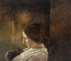 ANDREW WYETH (b. American realist painter of barren rural scenes. Major works include Tenant Farmer on Dec 2006 Andrew Wyeth Paintings, Andrew Wyeth Art, Jamie Wyeth, Nc Wyeth, Le Far West, Art Moderne, Museum Of Modern Art, Portrait Art, Portraits