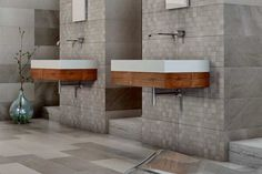 Sanctuary 3D Texture Feature Grey Wall & Floor Tiles 30x60cm - Tons of Tiles
