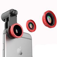 FANBIYA 3 in 1 Fisheye Lens Macro Lens 0.4X Super Wide Angle Lens Lens Camera Kits for Cell Phone