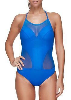 Cheap beachwear, Buy Quality beachwear women Directly from China Suppliers:JOYMODE 2017 Newest Design Women Blue Halter Bating Suit Backless Hollow Out Mesh Bathing Suit Bandage Suit Beachwear Plus Swimwear Fashion, Bikini Fashion, One Piece Swimwear, One Piece Swimsuit, Swim Cover Ups, Vintage Swimsuits, Plus Size Swimsuits, One Piece Suit, Beachwear For Women