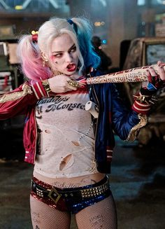 "dailydceu: ""Margot Robbie as Harley Quinn in Suicide Squad (2016) """