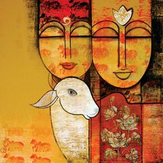 New Contemporary Art Gallery Interior Ideas Ganesha Painting, Buddha Painting, Madhubani Painting, Buddha Art, Pichwai Paintings, Indian Art Paintings, Abstract Paintings, Landscape Paintings, Tribal Art