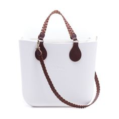 O bag mini bianca con manici e tracolla treccina All Pictures 74953671a01