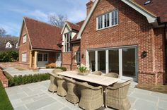 Traditional-style timber windows and doors from the Conservation™ range by Mumford & Wood Grey Windows, Timber Windows, House Windows, House Roof, Facade House, Windows And Doors, Casement Windows, Tudor House Exterior, French Exterior