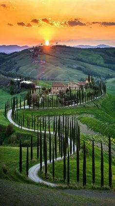 Tuscany, Italy, photo by Check his feed for more Tag your friends . Beautiful Places To Visit, Wonderful Places, Beautiful World, Beautiful Roads, Beautiful Sunset, Places To Travel, Places To Go, Travel Destinations, Tuscany Italy