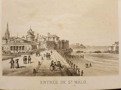 St Malo, Saint, Taj Mahal, Vintage World Maps, Posters, War