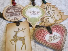 Christmas Tags/Ornaments Variety Pack  Vintage by anistadesigns, $14.20