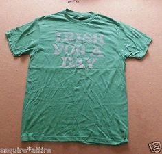 #t-shirts for sale: Topless California size S men graphic t-shirt Irish FOR A DAY (NEW NO TAGS) withing our EBAY store at  http://stores.ebay.com/esquirestore