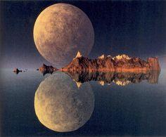 moon reflection. #moonshine #moonpics #photography http://www.pinterest.com/TheHitman14/moonshine-%2B/