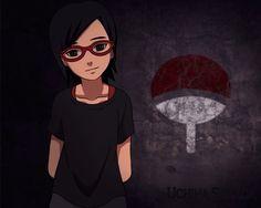 Uchiha sarada naruto anime artwork wallpaper