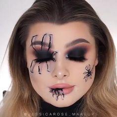 Maquillage Halloween Simple, Cute Halloween Makeup, Halloween Halloween, Halloween Recipe, Women Halloween, Halloween Projects, Halloween Makeup Last Minute, Creepy Halloween Costumes, Halloween College