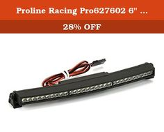 "Proline Racing Pro627602 6"" Super Bright Led Light Bar Kit (6V-12V) (Curved). Pro-Line brand Pro-Line Straight 6 Super Bright LED Light Bar Kit.FEATURES:Fits 1/8 and 1/10 scale rock racers, crawlers and monster trucksTwenty LED lights prewired with a 12 (305mm) long cable that plugsinto receiverMay be powered by 2S or 3S Lipo PowerMounts and hardware for custom installationsBlack nylon plastic housingMay be installed with the 6278-00 Overland Scale Roof RackYOU WILL RECEIVE:6 (152mm) LED..."