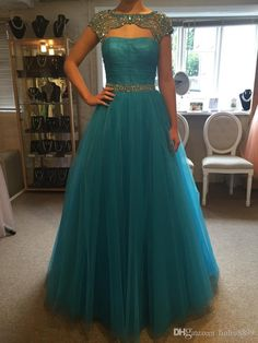 2016 Beautiful Prom Dresses Jewel Portrait Collar Beads Crystals Backless Sweep Train Organza Prom Gowns Custom Made Free Shippinp Prom Gowns 2015 Quiz Prom Dresses From Liuliu8899, $144.51| Dhgate.Com