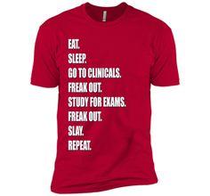 Funny Nurse Shirt Slay RN LPN Clinicals Nursing School t-shirt