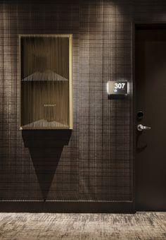 Rockwell Group Dream Hotel Hotel Door, Hotel Corridor, Hotel Hallway, Hotel  Signage,