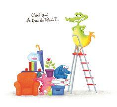 """Illustration de la rubrique """"Jeux"""" du magazine """"Crocoule"""""""