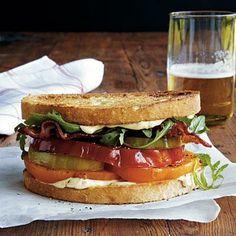 Heirloom Tomato, Arugula, and Bacon Sandwiches | CookingLight.com