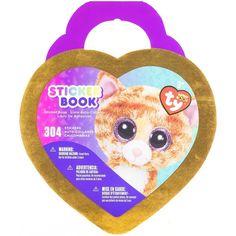Beanie Boos® Glitter & Foil Sticker Book Tabitha™ Cat 304 stickers