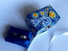 Starry Night Wedding Ring Box, Handmade Tardis Engagement Ring Box, Doctor Who Proposal Ring Box, Van Gogh Tardis Ring Box on Etsy, $65.75