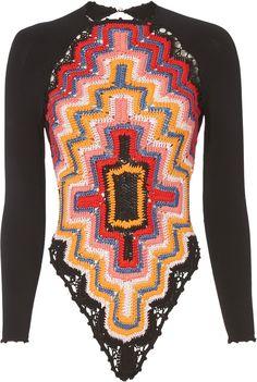 """""""Adam Selman Long Sleeve Crochet Bodysuit"""""""