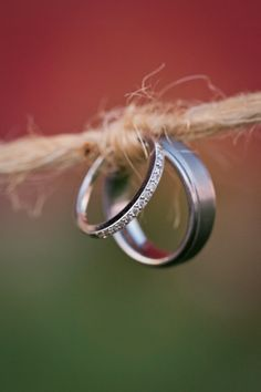 Tied the knot wedding rings photo | Weddings » Treehouse Photography