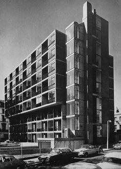 Maisonettes, Bayswater, London, UK, 1964 (Kenneth Frampton of Douglas Stephen & Partners)