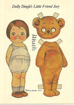 Free Dolly Dingle Paper Dolls   Dolly Dingle's Little Friend Joey is one postcard from a series of ...