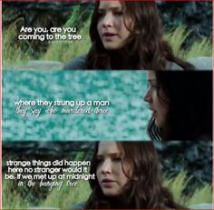 The Hanging Tree, loved the part of the movie where she sang this and the rebels fought! Divergent Hunger Games, Hunger Games Fandom, Hunger Games Catching Fire, Hunger Games Trilogy, Suzanne Collins, Katniss And Peeta, Katniss Everdeen, William Faulkner, I Volunteer As Tribute