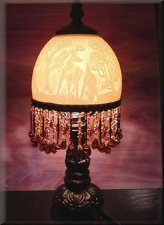 Ostrich Egg Lampshade;