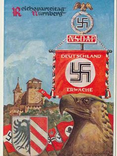 Third Reich in its best looks!! I like the look of this one Nazi Postcard.