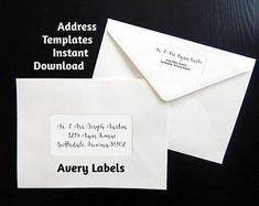 Free avery template for microsoft word multi use label 5434 printable address template for envelope labels avery 2 x 4 1 x 2 58 wedding christmas etc instant download digital file pdf saigontimesfo