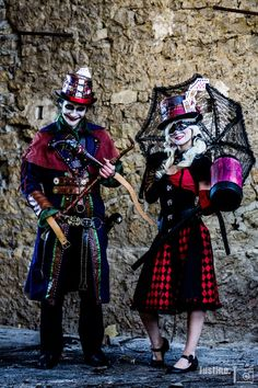 Joker and harley quinn steampunk Cosplay ! by table-chapelier-fou.deviantart.com on @DeviantArt
