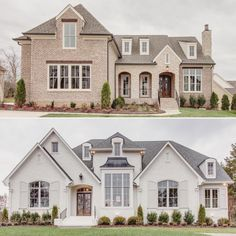 French country exterior, french country house, ultra modern homes, elegant French Country Exterior, French Country House, Dream House Exterior, Dream House Plans, Dream Home Design, My Dream Home, Stommel Haus, Painted Brick Exteriors, Up House