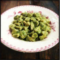 Gnocchi in a Pesto sauce