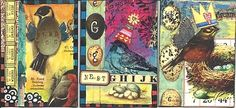 bird collage atcs by Roc