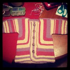 Finally finished EZ's Baby Surprise jacket! I love it. #knit