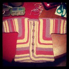 Finally finished EZ's Baby Surprise jacket! I love it. #knit