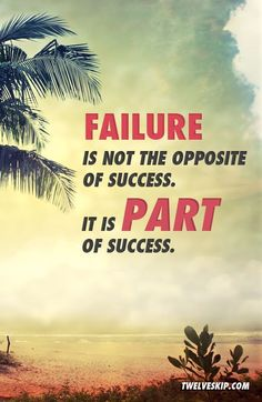 Failure is not the opposite of success, it's part of success - Arianna Huffington