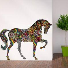 Sticker animal Cheval au galop 100x95cm