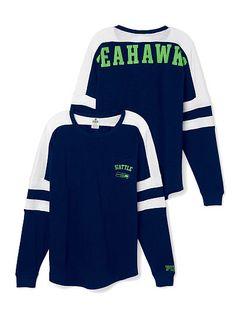 Seattle Seahawks Pocket Varsity Crew PINK