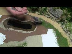 Basic Model Train Scenery Tutorial #4 - Creating a body of water - YouTube