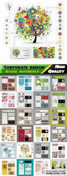 Стильные визитки и фирменный стиль - креативный дизайн в векторе   Vector business cards