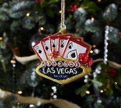 Vegas Sign Ornament #potterybarn