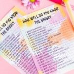 FREE PRINTABLE 'HOW WELL DO YOU KNOW THE BRIDE?' HEN PARTY & BRIDAL SHOWER GAME!